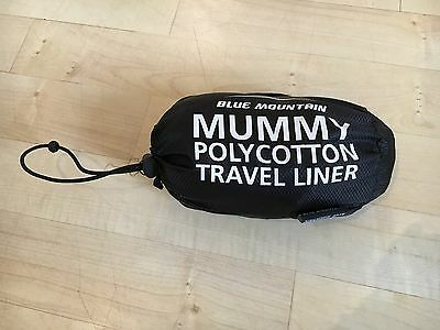 Blue Mountain Mummy Shaped Polycotton Sleeping bag Travel Liner new without tags