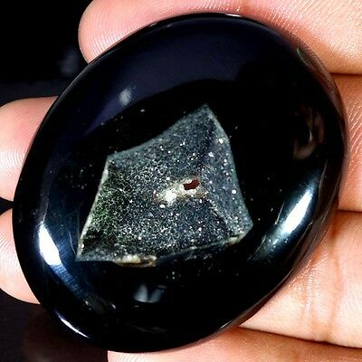 127.05Cts ATTRACTIVE DESIGNER BLACK ONYX DRUZY AGATE OVAL CABOCHON GEMSTONE