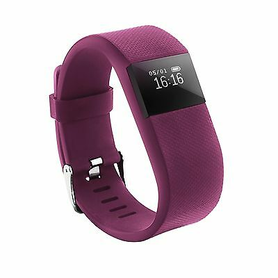 Heart Rate Activity Tracker Wristband Fitbit Hr Style Wireless Watch Pink
