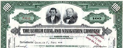 Stock Certificate: THE LEHIGH COAL & NAVIGATION Co, 1930