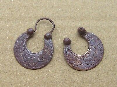 Ancient bronze earring Middle Ages original