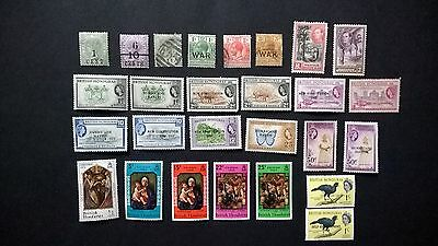British Honduras QV to E2 MG and 3 used Commonwealth stamps