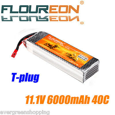 6000mAh 3S 11.1V 40C Lipo RC Battery Pack T for RC Car Airplane RC Boat RC Hobby