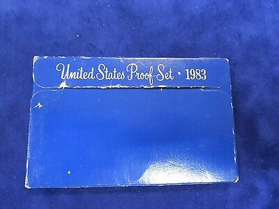 USA 1983 's' US MINT 5 coin PROOF SET complete  WITH COVER