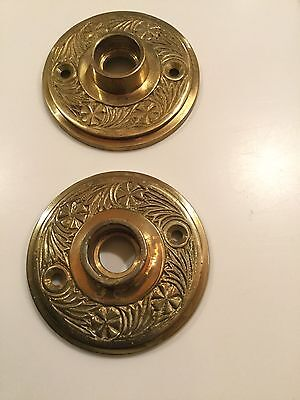Ornate Door Rosettes Brass