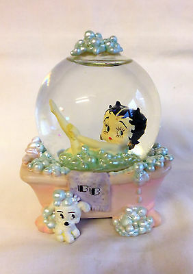 "AUTHENTIC. BETTY BOOP ""bubbles for betty"" BETTY BOOP snow globe. WESTLAND GIFTS."