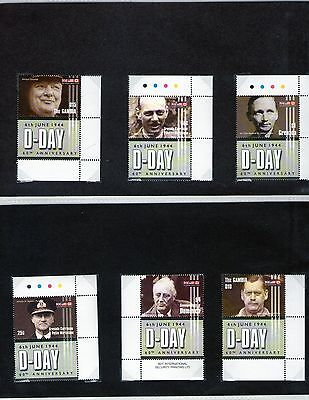 60th anniversary of D day stamps rare full set MNH