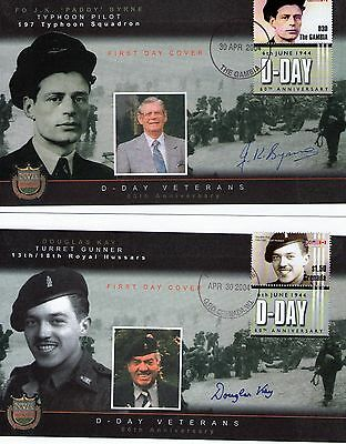 10 Military autographed covers 60th anniversary of D day