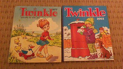 Twinkle 1978 and 2003 Vintage Girls Annuals