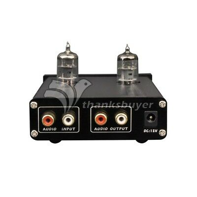 ZHILAI D2 HIFI Audio Preamp Tube Preamplifier 2ch Treble Bass with Adapter Black