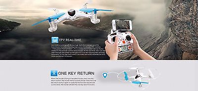 MJX X300C RC Remote Control Drone FPV LED 2.4G Helicopter 6Axis White Quadcopter