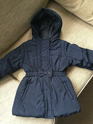 Girls Navy Coat 2-3 Years M&S