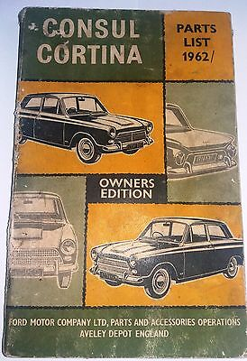 Ford MK1 Consul / Cortina Parts List Manual