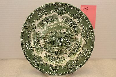 "8"" Plate Green English Country Inns, Grindley"