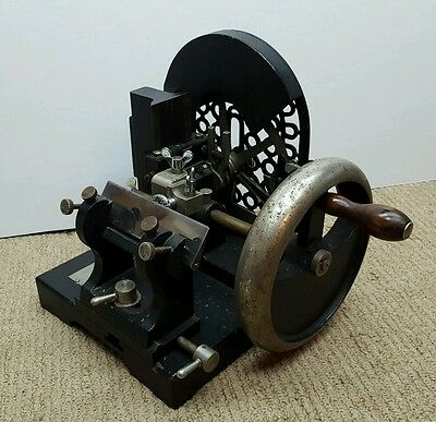 Antique Bausch & Lomb Optical ROTARY MICROTOME Microscope Slide Specimen Zoology