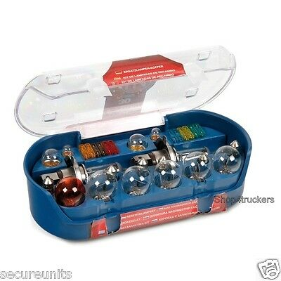Lorry Truck HGV motorhome van 24v H7 30 piece spare bulb kit with spare fuses