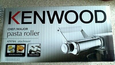 Kenwood AT970A Chef & Major Flat Pasta Roller Attachment Stainless Steel & White