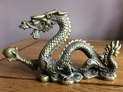 Brass Vintage Antique Chinese Lucky Dragon
