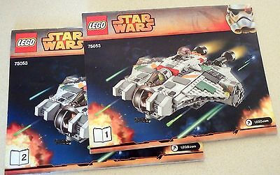 LEGO Star Wars Instruction Manual Booklets Only 75053 Ghost--Bks. 1 & 2