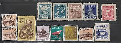 Korea Small Collection of 53 Stamps MNH/MH/CTO/Used