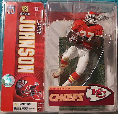 McFarlane NFL 2006 SERIES 14 LARRY JOHNSON Kansas City Chiefs Red Jersey NEU OVP