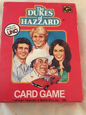 Vintage 1981 Dukes Of Hazzard UNO Card Game With Instructions!