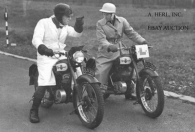 Anelay Excelsior 122cc factory racer Crystal Palace 1954 photograph photo