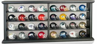 NFL American Football Riddell Pocket Pro 32 Helmet Set in Display Case OLD STYLE