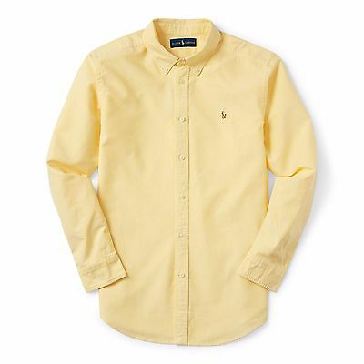 New Ralph Lauren Boys Kids Long Sleeve Yellow Shirt Age 12