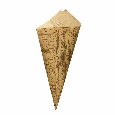 """300 Bamboo Leaf Sushi Cone 6.7"""" inches long x 3"""" inches Bamboo MN"""