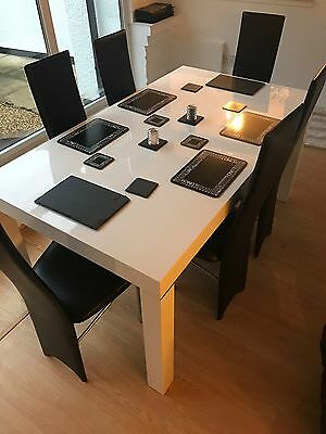 6ft White Dining Table And Chairs
