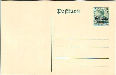 M0ROCCO. 1899-1914/GERMAN OFFICES-unused POSTAL STATIONERY CARD/five cent's