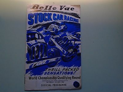 Vintage STOCK CAR RACING Programme. Belle Vue Manchester England 7th May 1966.