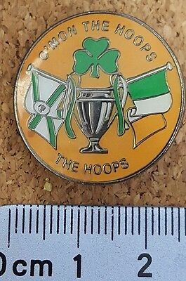 Celtic football badge THE HOOPS European Cup Clover Tricolour