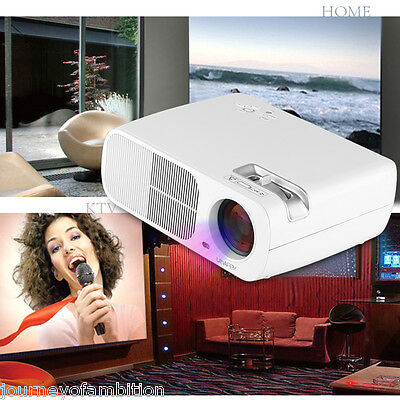 Uhappy 2600lumen 3D 1080P HDMI HD Proyector video casero LED LCD 2000:1 ATV/VGA