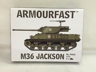 NEW Armourfast #99025 M36 Jackson 1/72 Model Kit - 2 x Tank Models Included