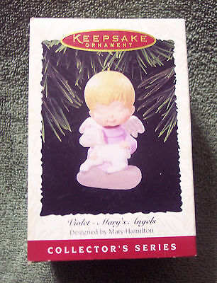 Hallmark Violet with Lamb Mary's Angels #9 in the Series 1996 Christmas Ornament