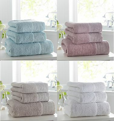 Luxury Towels With Diamante Band Embellished Detail,2 Hand Or 2 Bath Towels,
