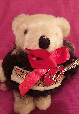 Woodstock !!!  Koochie Bear Vintage  Teddy with guitar!