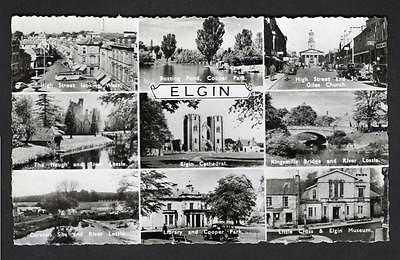 """ELGIN"" Multi View Postcard Scotland  Moray"