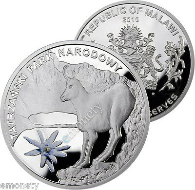2010 Malawi 20 kwacha Biosphere Reserves Silver coin Pad printing + GIFT ex. vat