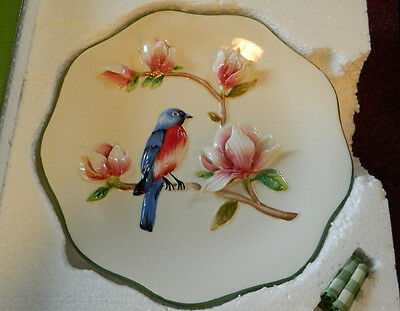 """3-D, 9.5""""  Blue Bird Plate by Kate McRostie Expressly for Valerie"""