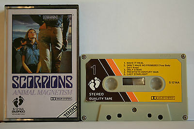 Scorpions  Animal Magnetism  Kassette Cassette MC Tape see Photo's