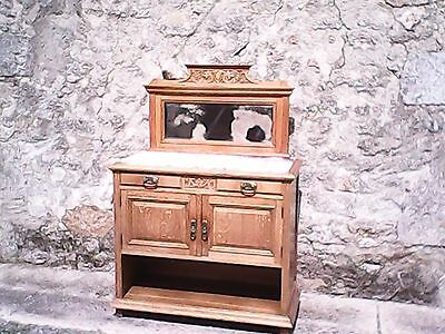 French antique vintage louis philippe style oak cabinet, dresser, sideboard