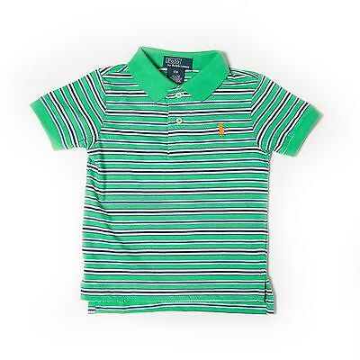 New Ralph Lauren Boys Kids Small Pony Striped Polo Shirt Age 18 Months