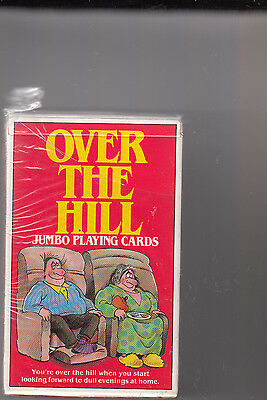 """OVER THE HILL JUMBO PLAYING CARDS -""""UNSEALED"""" - 1988  Ivory Publishing, Inc."""