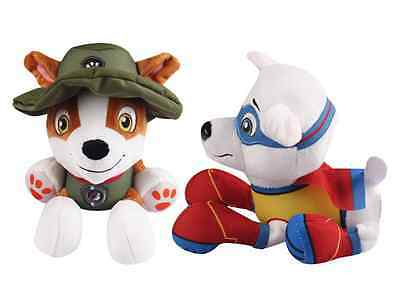 """New Plush Pup Pals 8"""" Paw Patrol Jungle Rescue Tracker Soft Toys Nickelodeon Dog"""