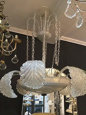 Vintage Large Murano Glass Chandelier