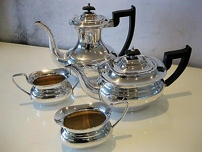 Elegant Antique Silver Plated Victorian Style 4 Piece Tea / Coffee Service