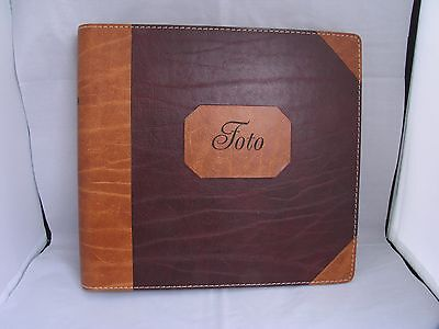 Margit Bjorlow Brandt Foto Leather Photo Album 25x27cm Danish 25 pages Handmade